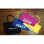 Peace Love World Tote Bags 1  / 大容量購物袋 1