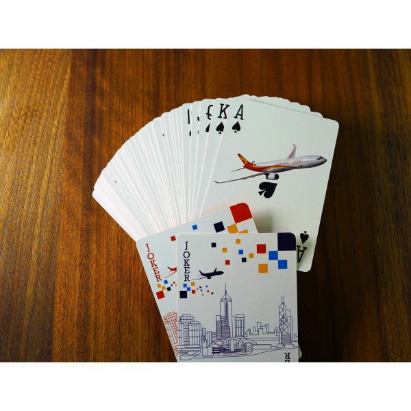 HK Airline Normal 4C printing Paper Box Play Card / HKA 常色4色印刷+ 紙盒啤牌